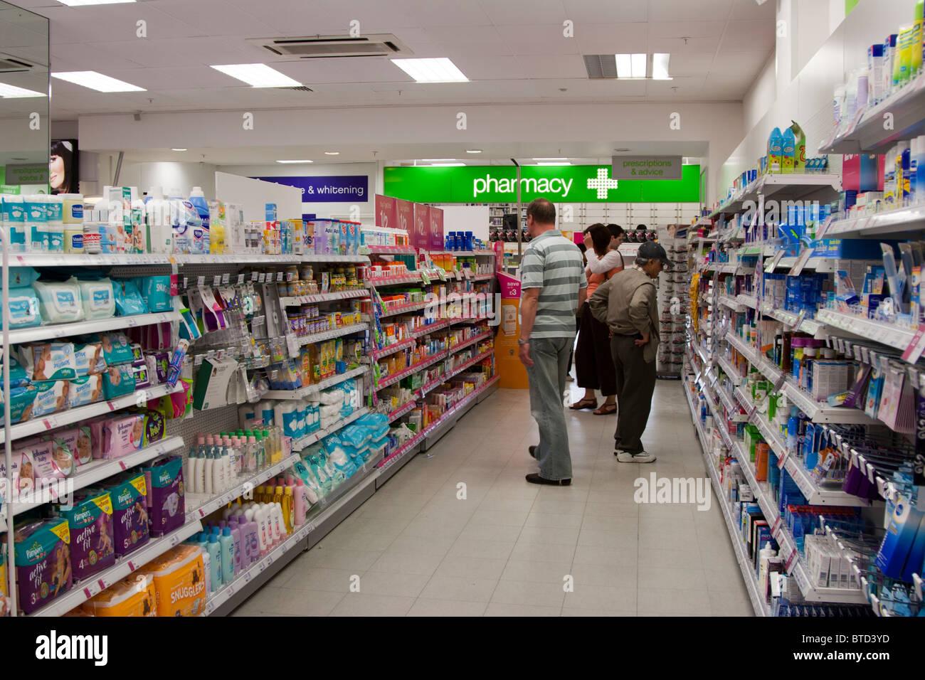 Drug store england