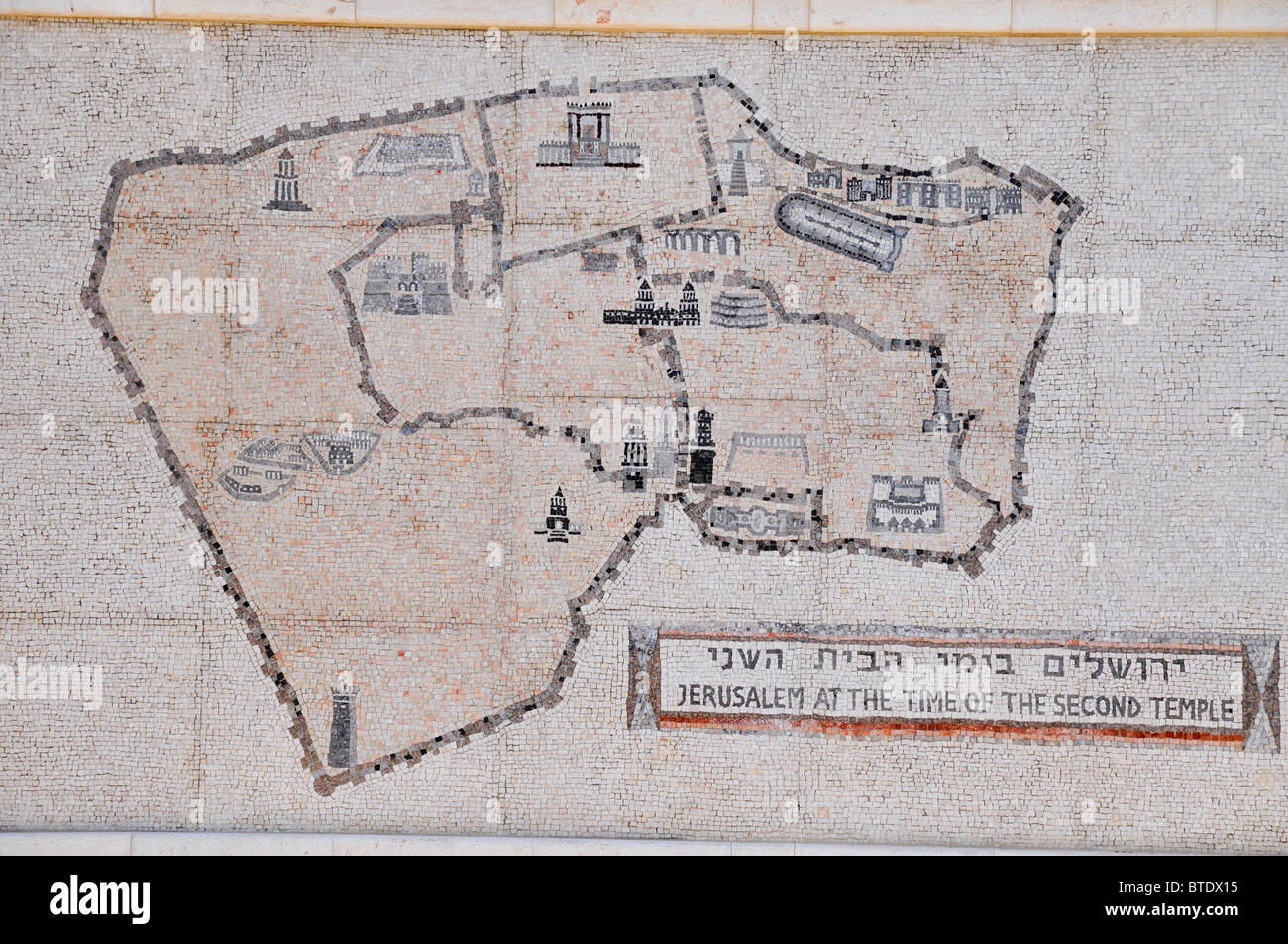 Israel Jerusalem Israel Museum Map of the Model of Jerusalem in