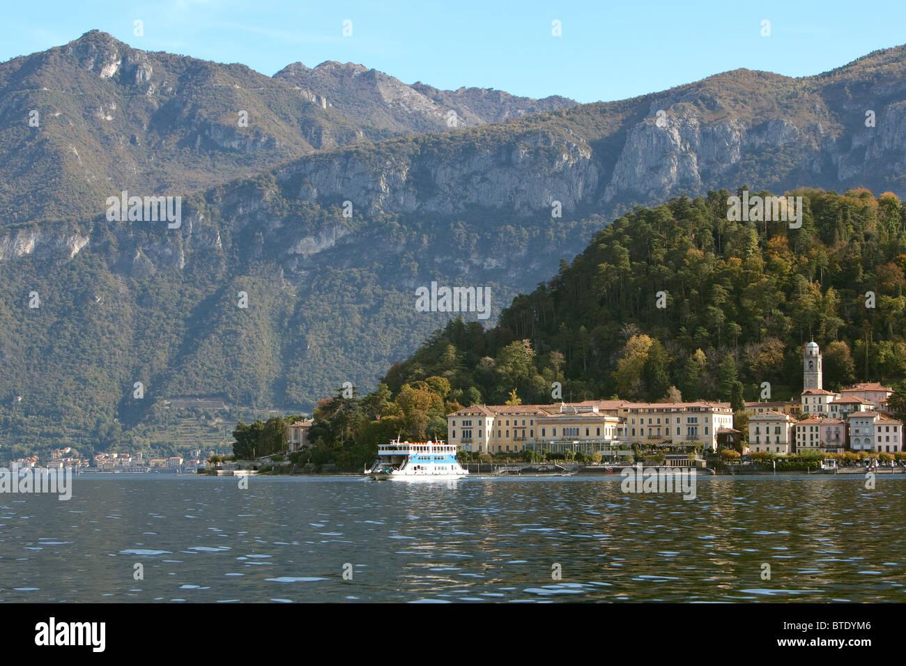 Car Ferry Leaving Bellagio Lake Como Italy Stock Photo Royalty