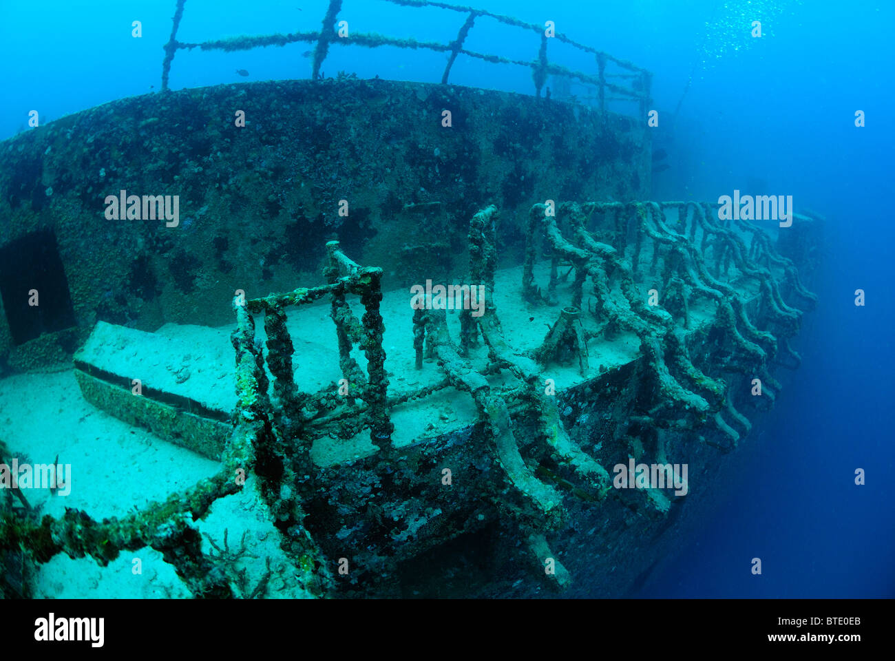 wreck of uss spiegel grove off key largo coast florida usa stock photo royalty free image. Black Bedroom Furniture Sets. Home Design Ideas