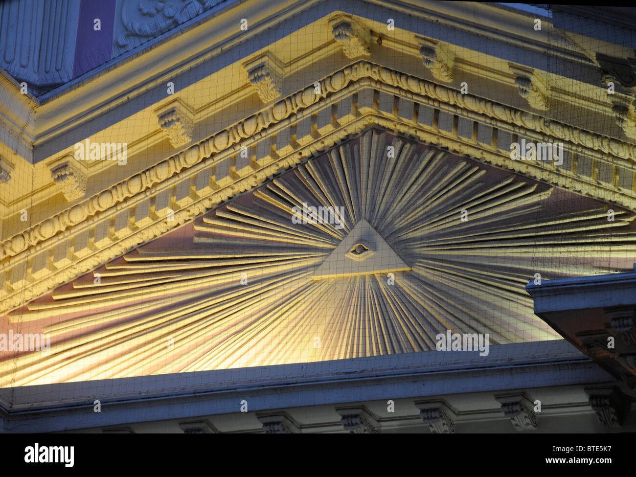 Free mason stock photos free mason stock images alamy an eye within a triangle a free mason symbol on the facade of the salta biocorpaavc