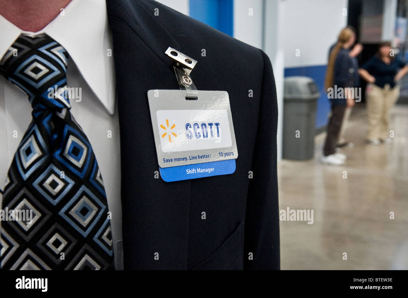 anglo male shift manager at walmart is ready to greet customers at anglo male shift manager at walmart is ready to greet customers at grand opening of new