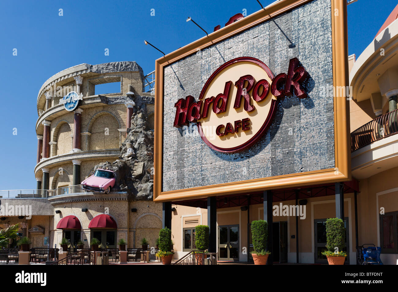 hard rock cafe at universal city walk universal studios orlando stock photo royalty free. Black Bedroom Furniture Sets. Home Design Ideas