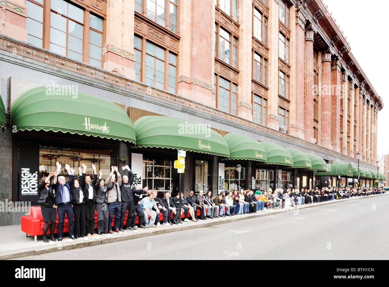 Lovely Stock Photo   Worlds Longest Sofa At Harrods