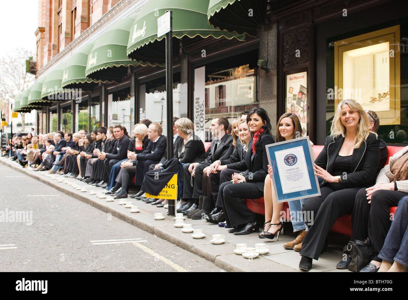 Stock Photo   Worlds Longest Sofa At Harrods