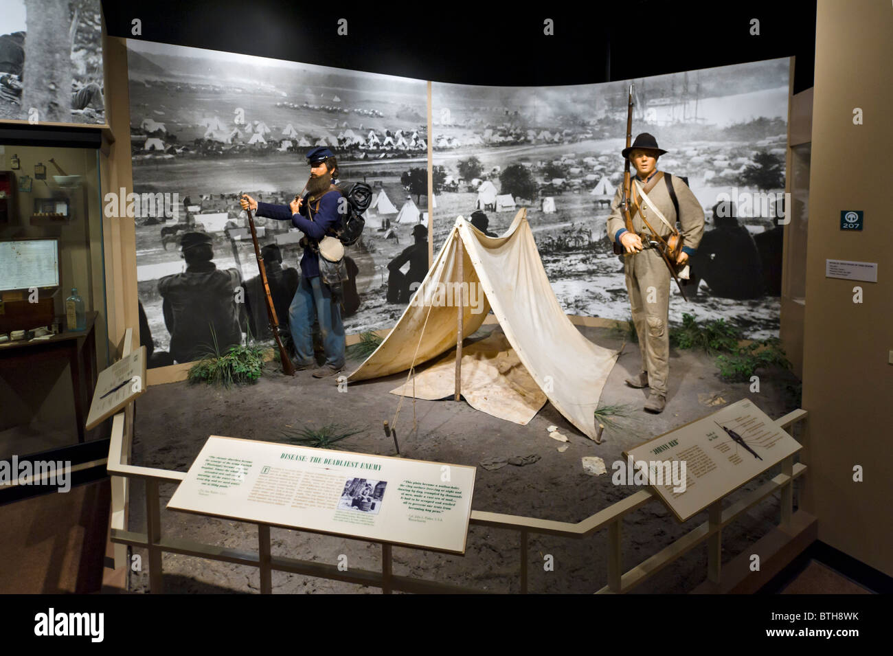 American Civil War Tableau In The Atlanta History Center Museum - War museums in usa
