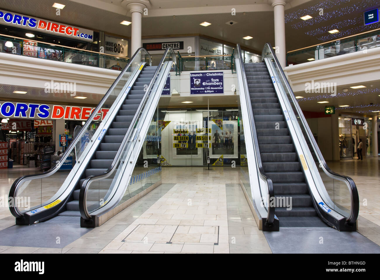 Metrocentre Gateshead out of town shopping mall escalators ...