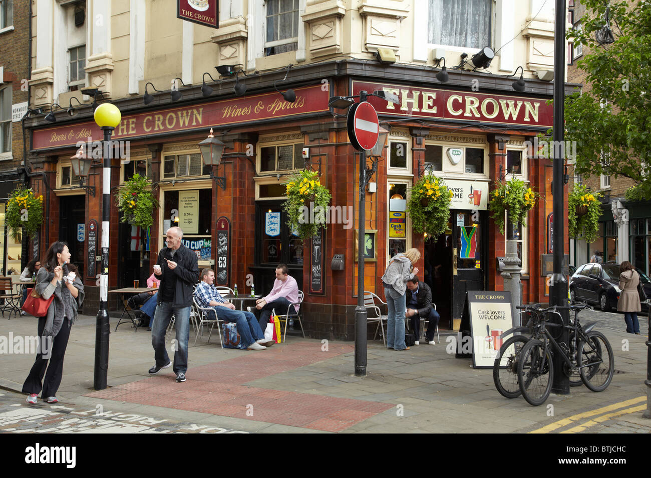 The Crown Pub Seven Dials Covent Garden London England United Stock Photo Royalty Free