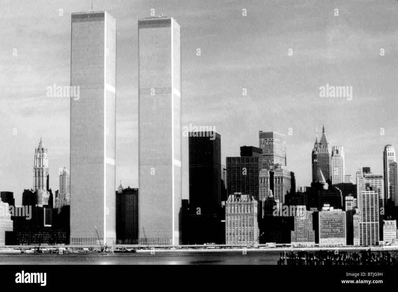 world trade center twin towers 1976 stock photo royalty