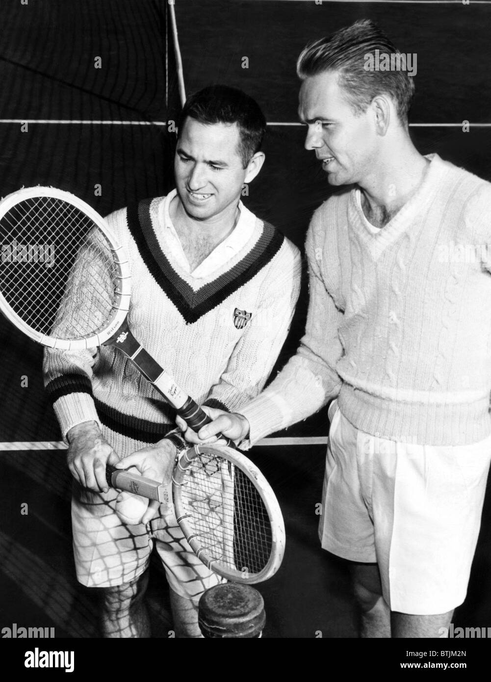 Tennis players Bobby Riggs Jack Kramer c 1950s Stock