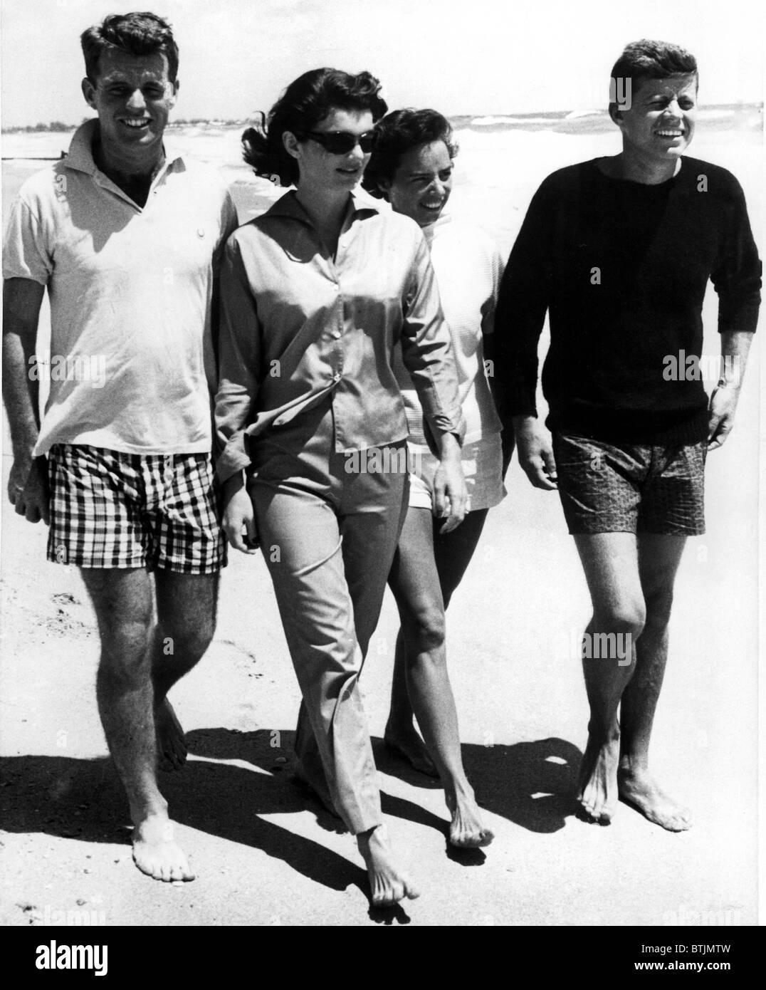 The Kennedys, Robert, Jackie, Ethel And Senator, John F Kennedy,