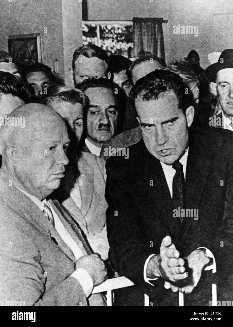Soviet Premier Nikita Khrushchev, and U.S. Vice President Richard ...
