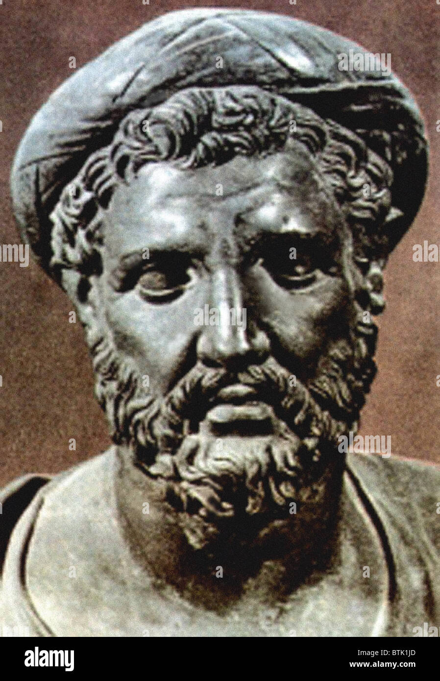 pythagoras stock photos pythagoras stock images alamy pythagoras bust of the 6th century bc mathematician and philosopher born 569 bc in