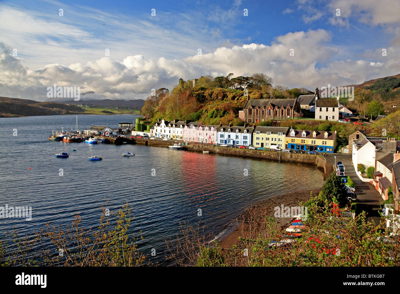 Uk Scotland Highland Inverness Shire Isle Of Skye Portree
