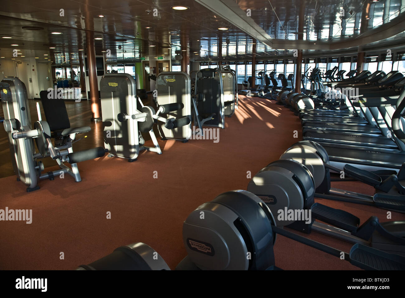P And O P Amp O Cruise Ship Azura Gym Exercise Stock Photo