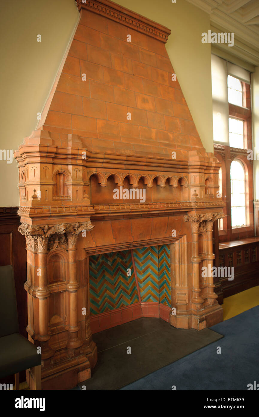 Large Ornate Victorian Red Brick Fireplace Inside The Pierhead Stock Photo Royalty Free Image