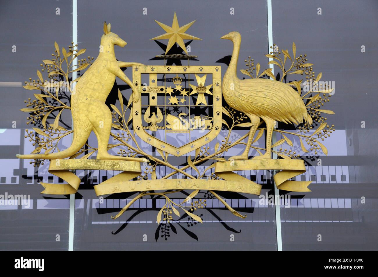 Australian Coat Arms Law Court Building Canberra Australia Aus