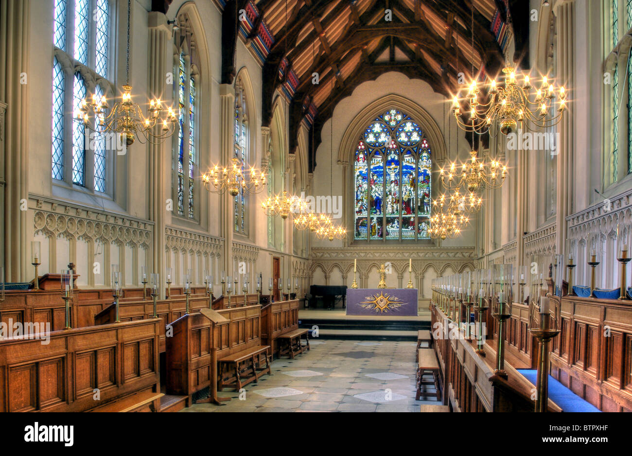 An Interior View Of The Chapel At Corpus Christi College
