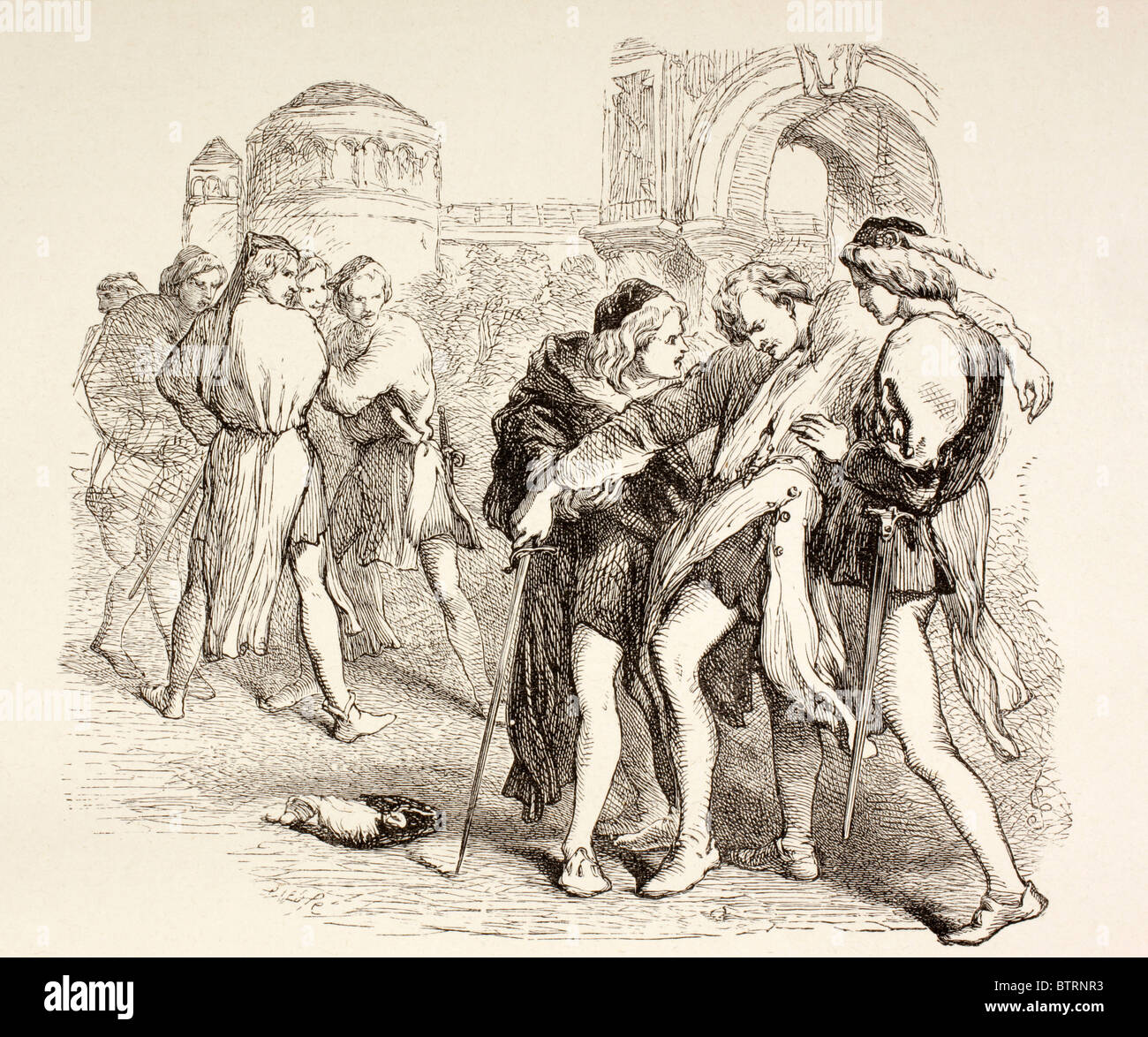 Illustration from Romeo and Juliet by William Shakespeare. Tybalt ...