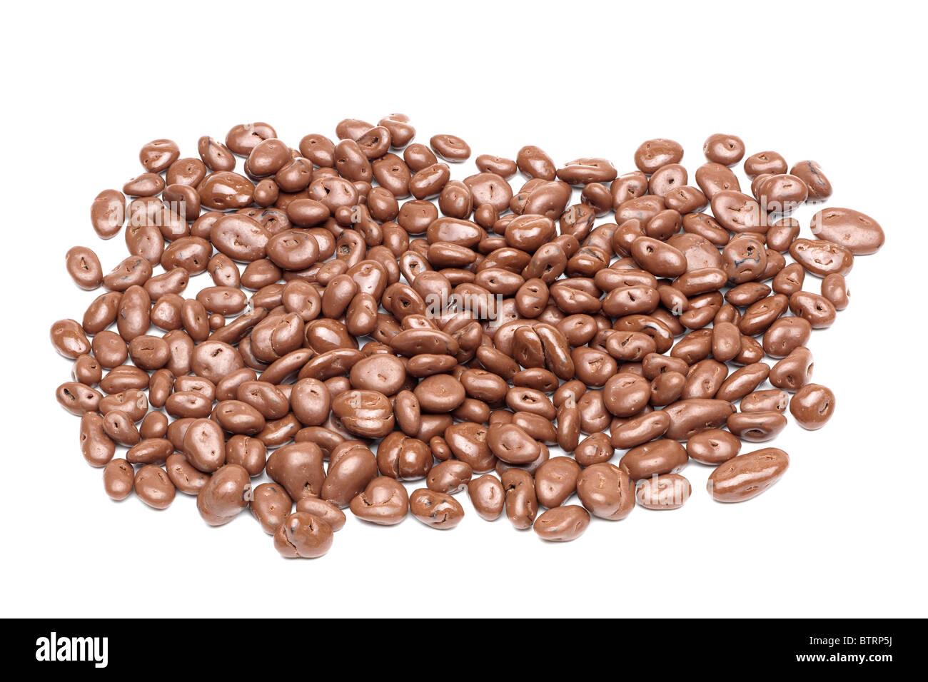 Pile of Cadbury milk chocolate covered raisins Stock Photo ...