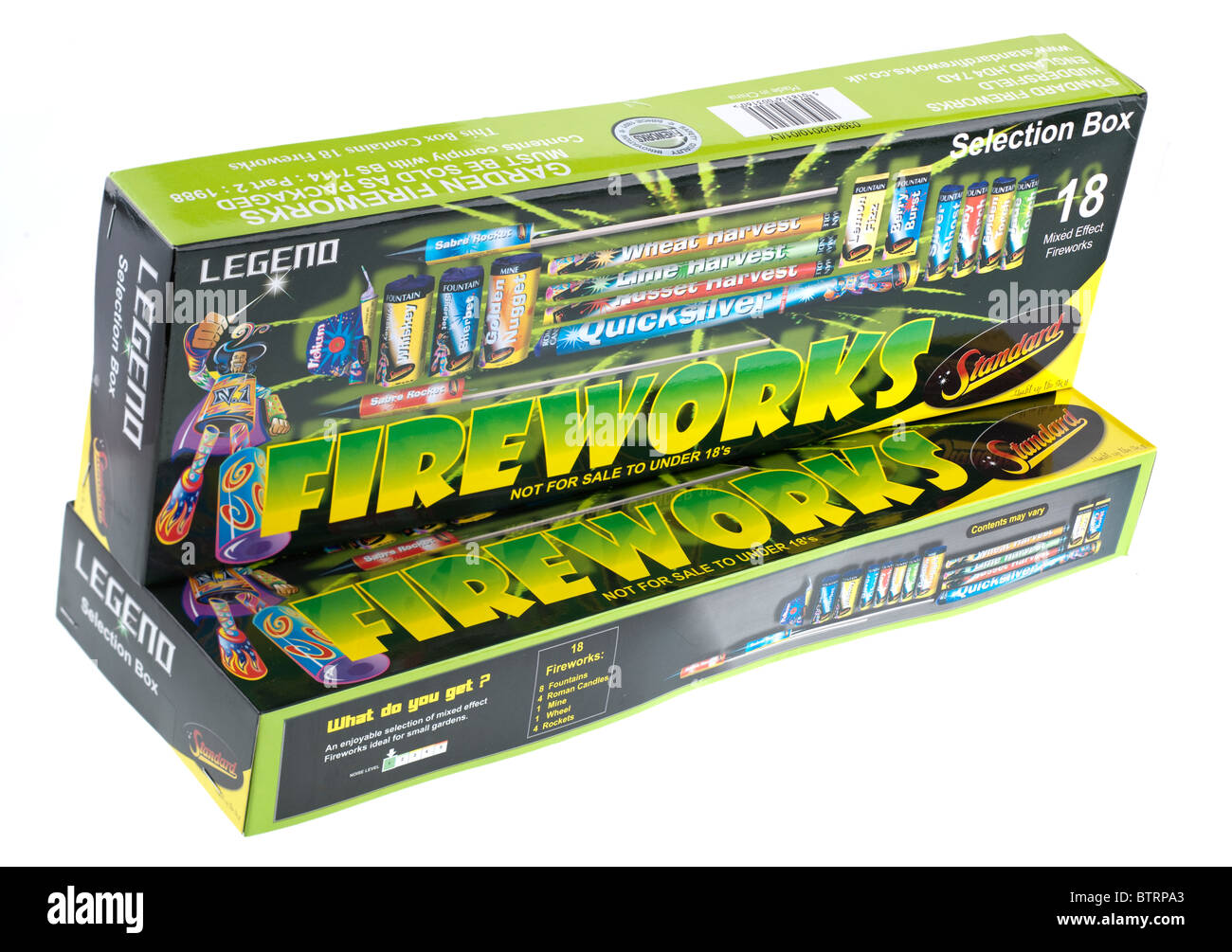 Two Selection Boxes Of Standard Legend Fireworks For Small ...
