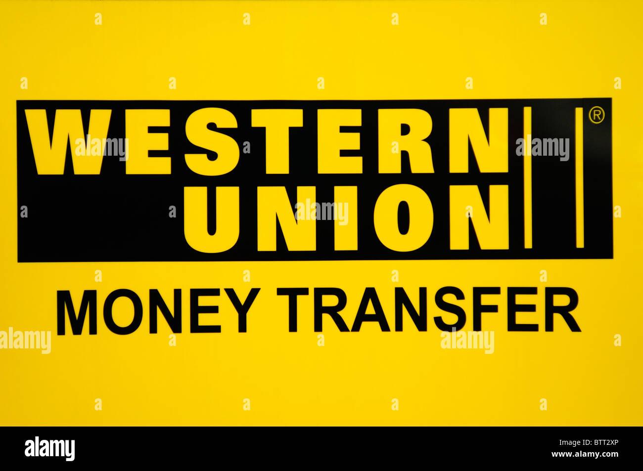 Western union - Western Union Money Transfer Sign Logo London England Uk Stock Image