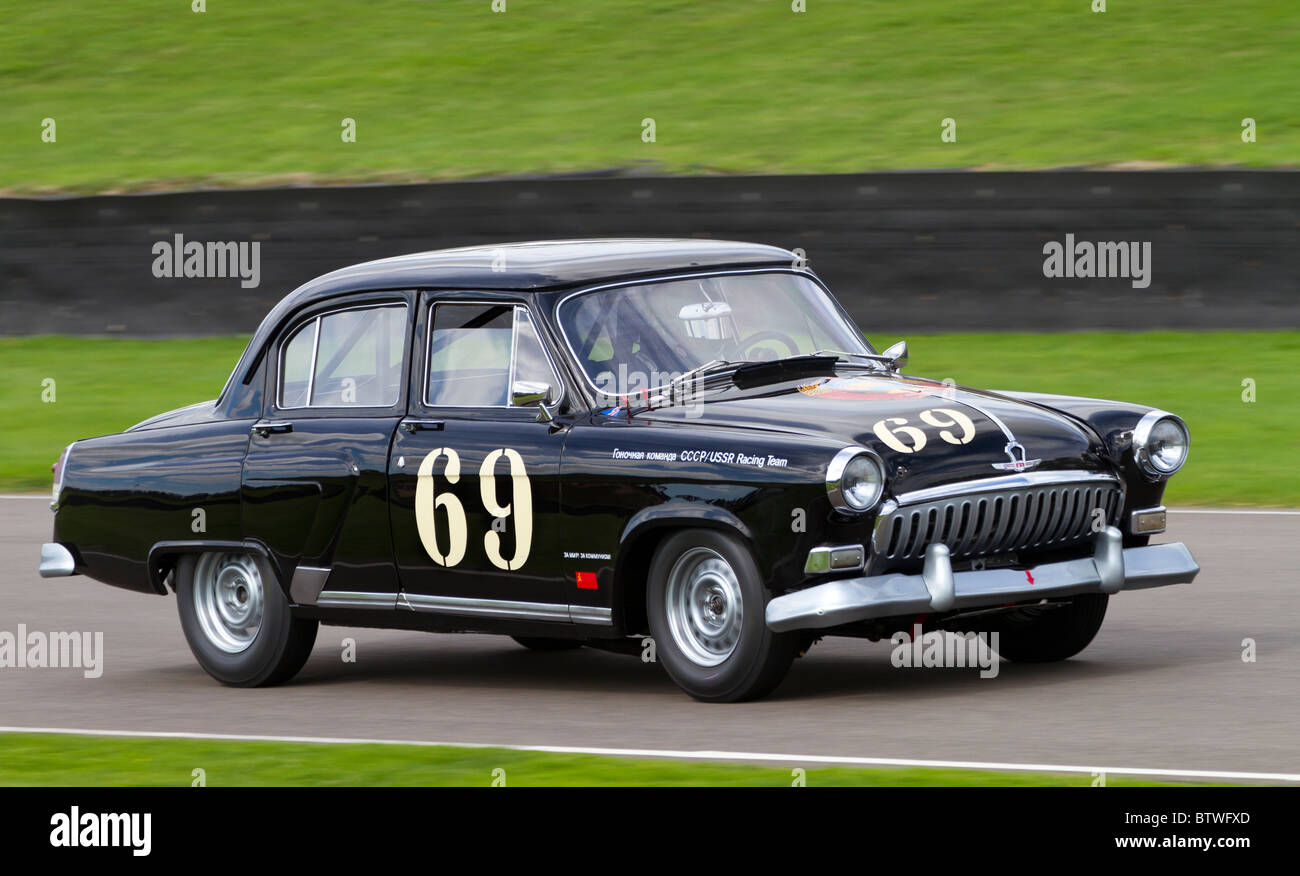 1958 gaz volga m21 with driver paul radisich during the st marys stock photo royalty free image. Black Bedroom Furniture Sets. Home Design Ideas