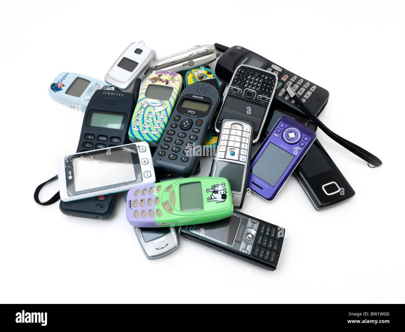 Pile Of Cell Phones : A pile of old and new mobile phones nokia samsung lg
