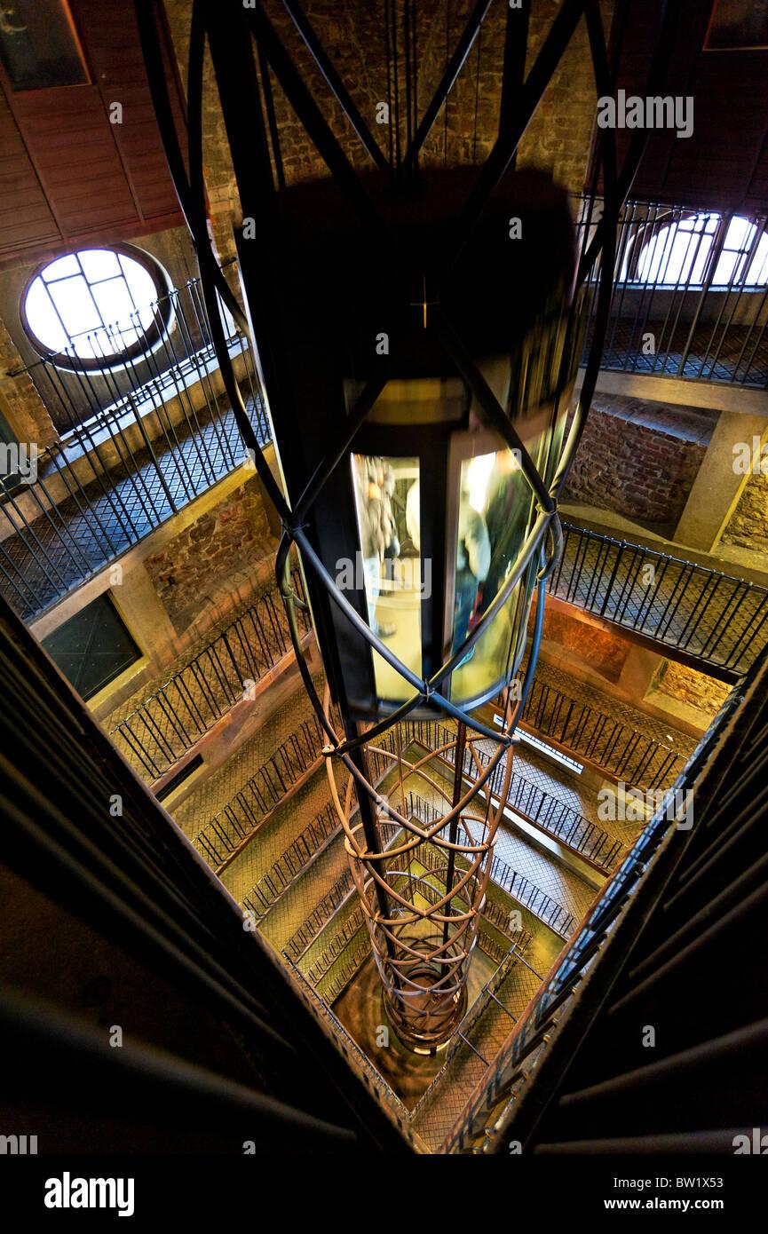 Futuristic Clock Modern Futuristic Elevator Inside The Astronomical Clock Tower In
