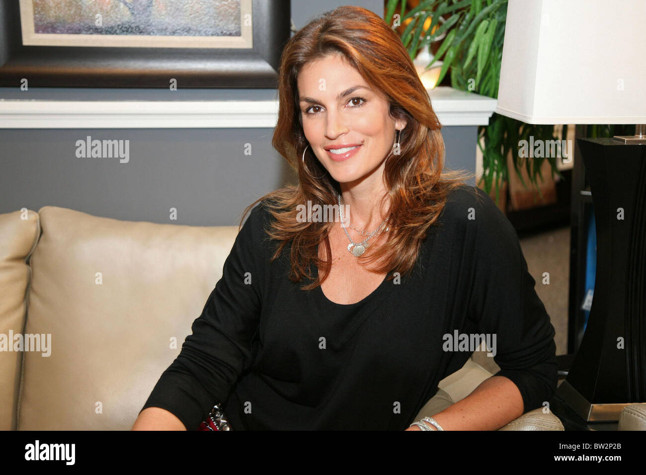 Cindy Crawford Home Launch Of Cindy Crawford Home Furnishing Line Stock Photo Royalty