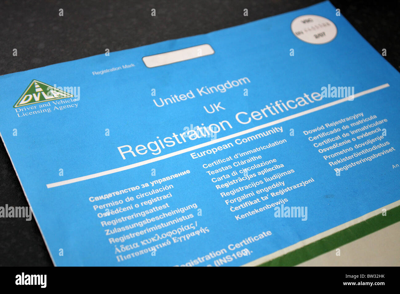 A photography of a uk british vehicle registration certificate a photography of a uk british vehicle registration certificate from the dvla xflitez Images