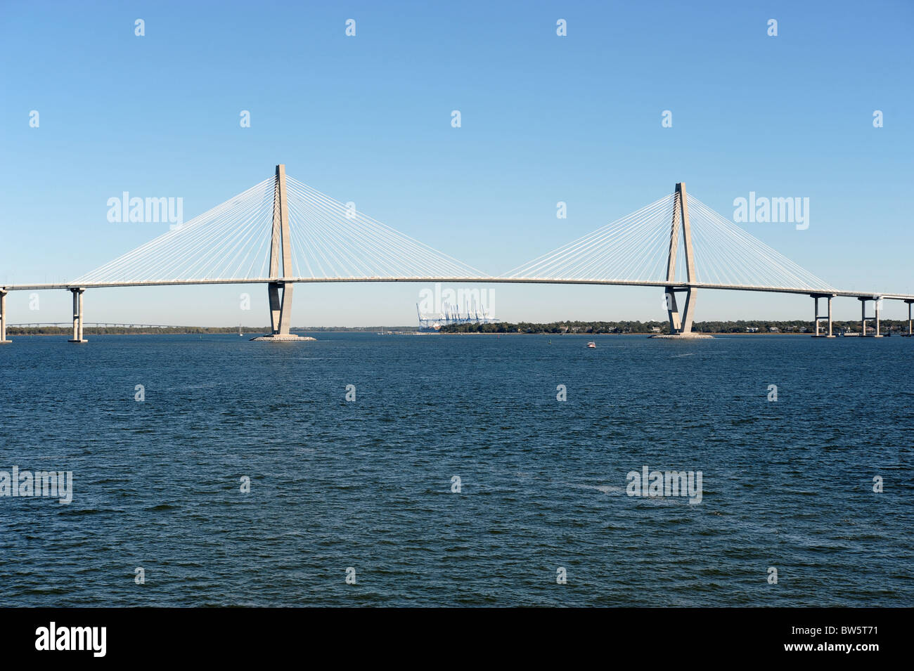 Arthur J Ravenel Bridge Charleston SC USA Longest Cable - Longest bridge in the usa