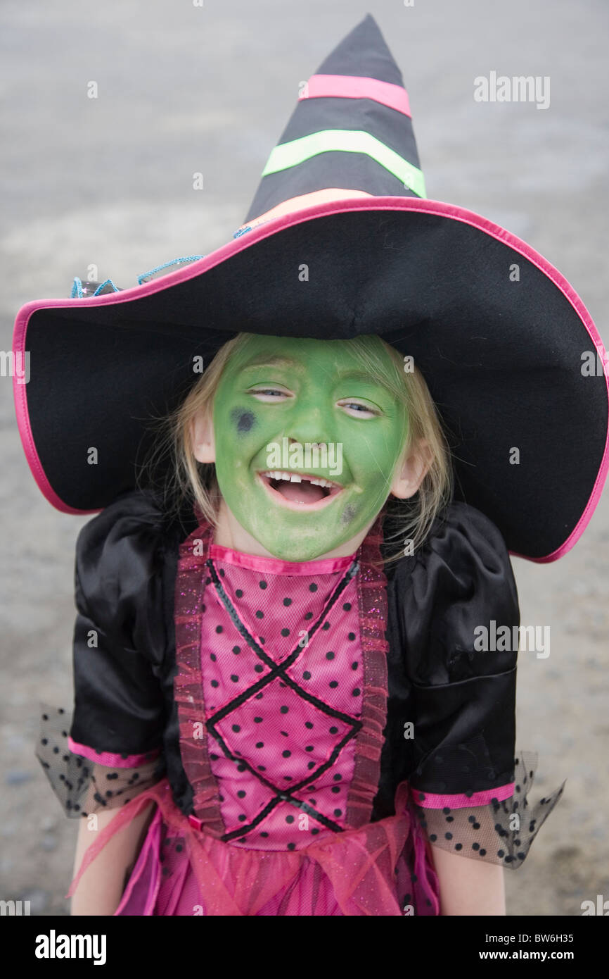 Uncategorized Halloween Witch Face Paint Ideas young child girl wearing halloween witches costume and face paint