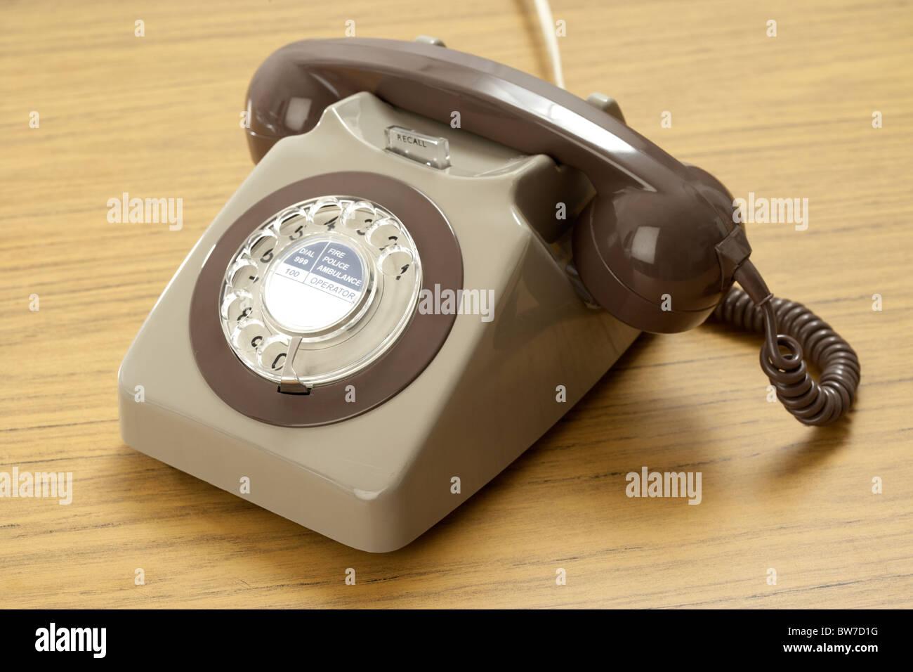 Old Retro Gpo 746 British Telecom Rotary Dial Phone Stock Photo ...