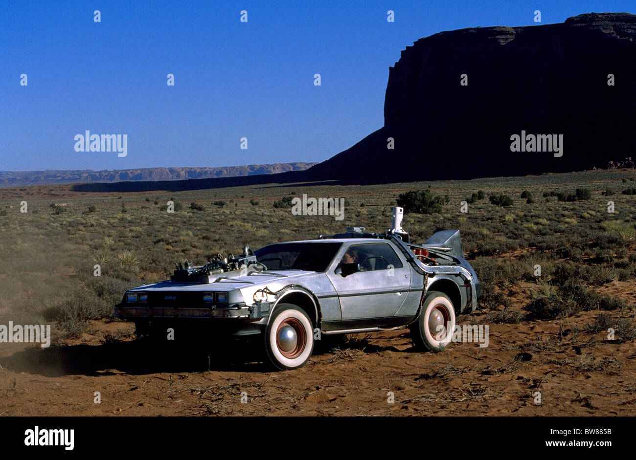 DELOREAN CAR BACK TO THE FUTURE PART III (1990 Stock Photo ...