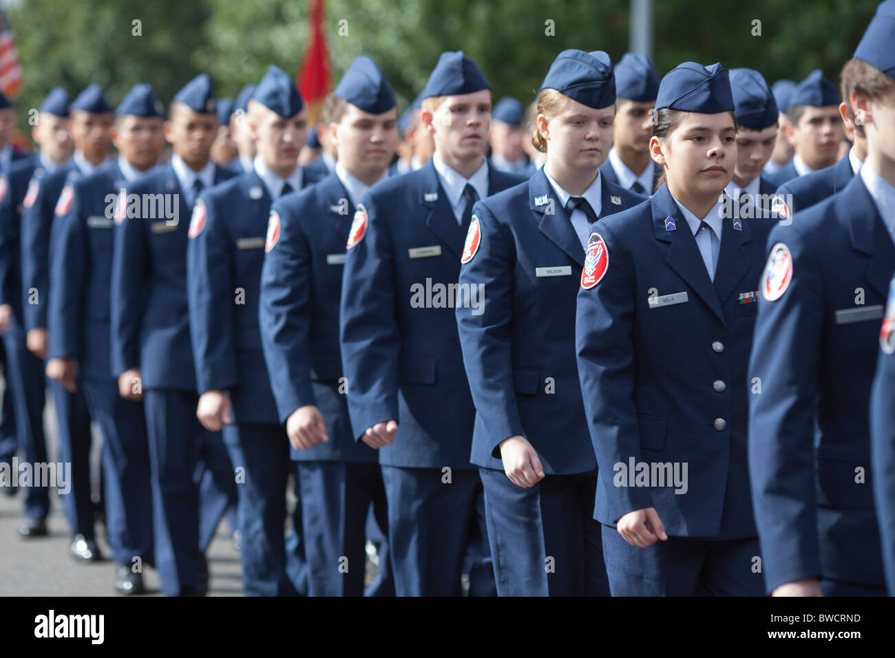 members of the bowie high school junior air force rotc