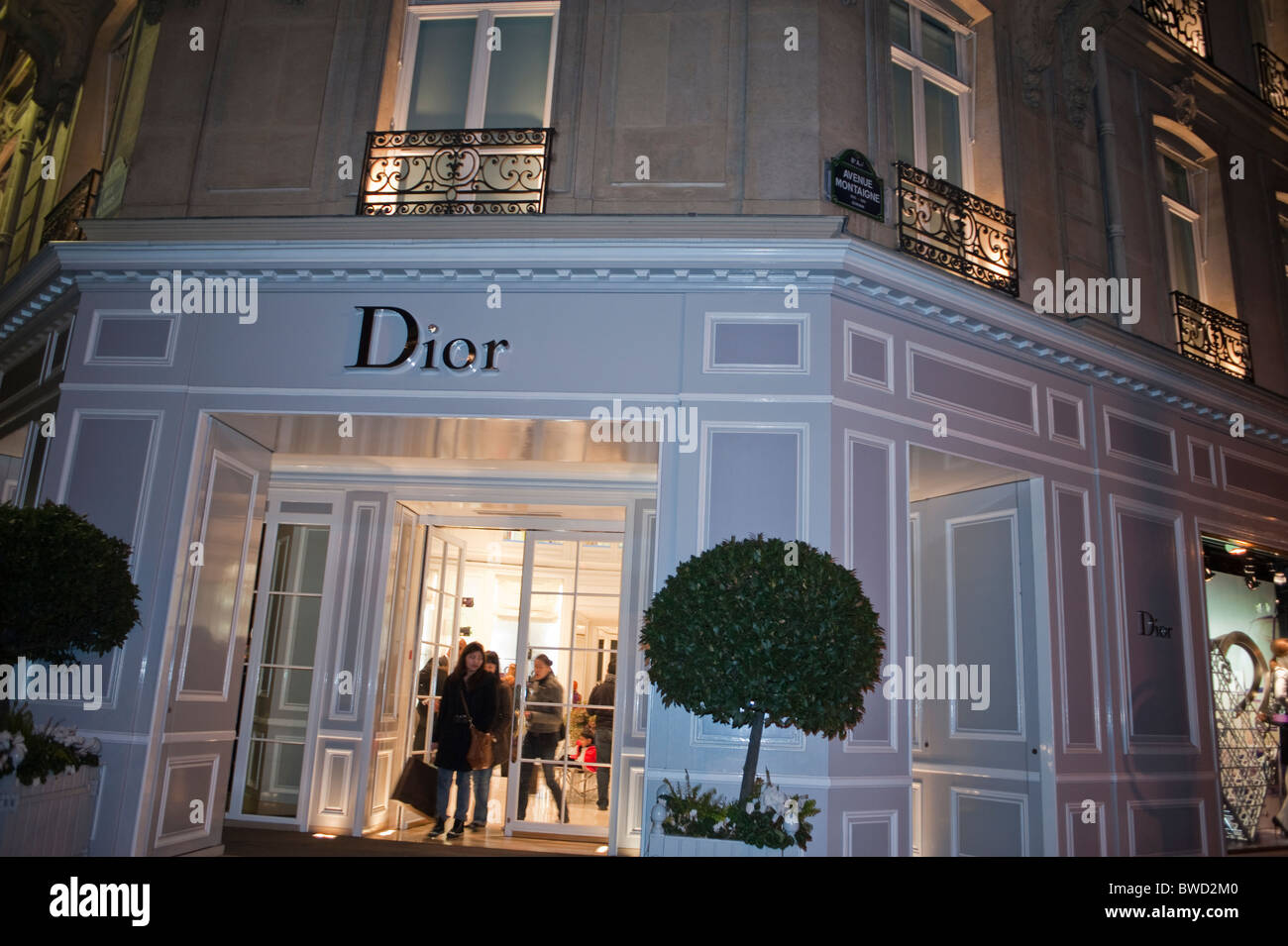 Paris France Dior Store Front Luxury Shopping Building