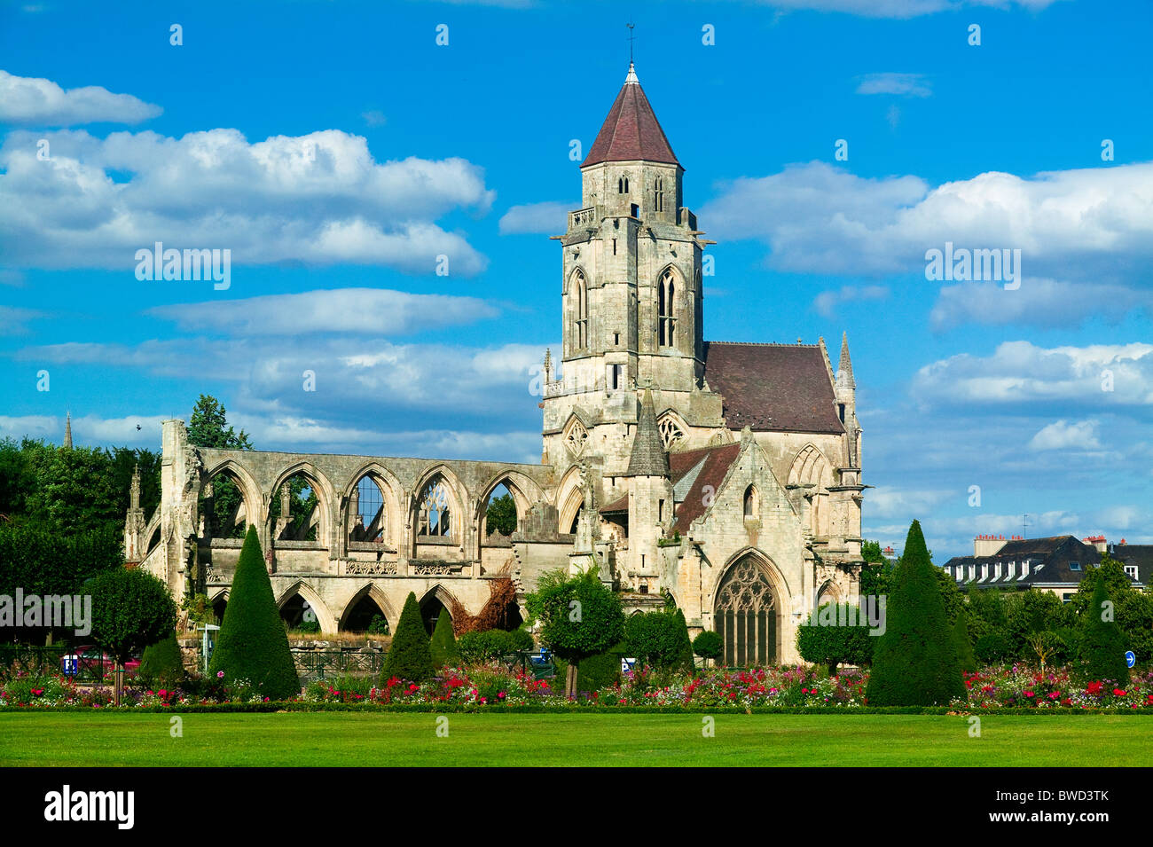eglise saint etienne le vieux caen calvados basse normandie stock photo royalty free image. Black Bedroom Furniture Sets. Home Design Ideas