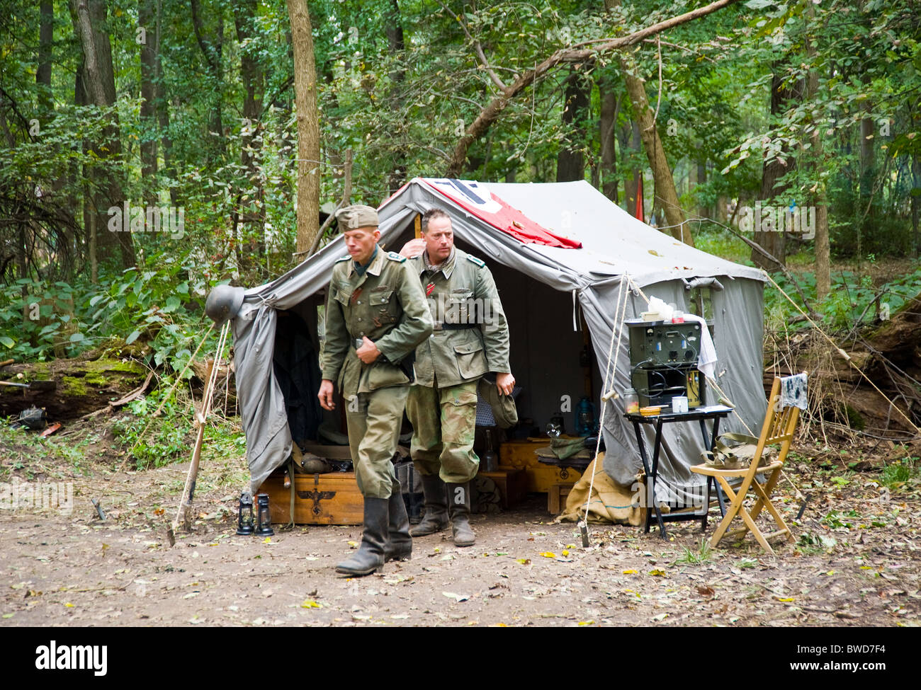 German Army Soldiers World War Two Acting Tent Show
