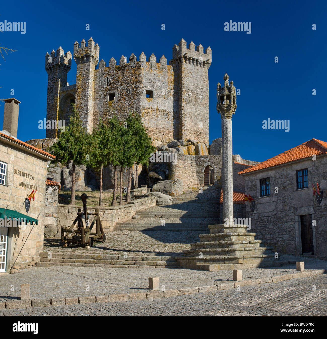 Portugal, the Beira Alta, Penedono castle and pillory Stock Photo, Royalty Free Image 32883968