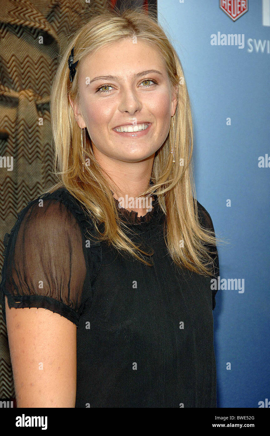 tag heuer watch launch party for the maria sharapova foundation stock image
