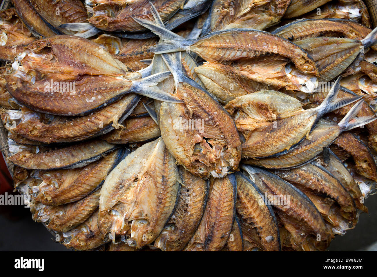 tuyo or dried fish for sale at a market in roxas