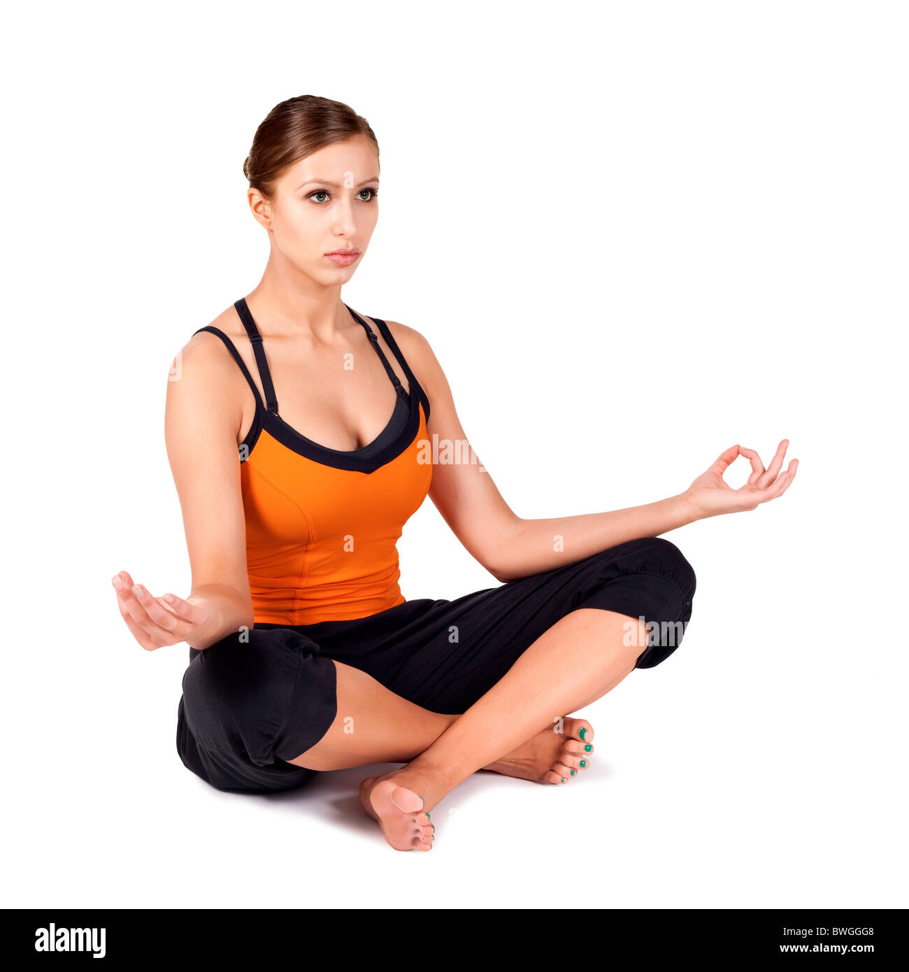 Woman Doing Popular Yoga Pose Called Easy Sanskrit Name Sukhasana Great For Breath Control Concentration And Meditation