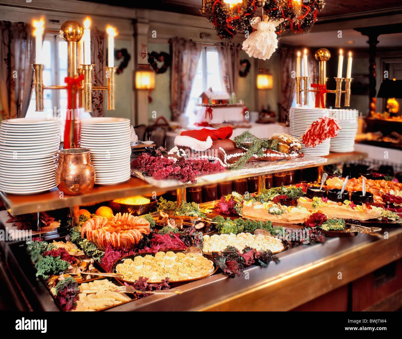 christmas buffet table ideas