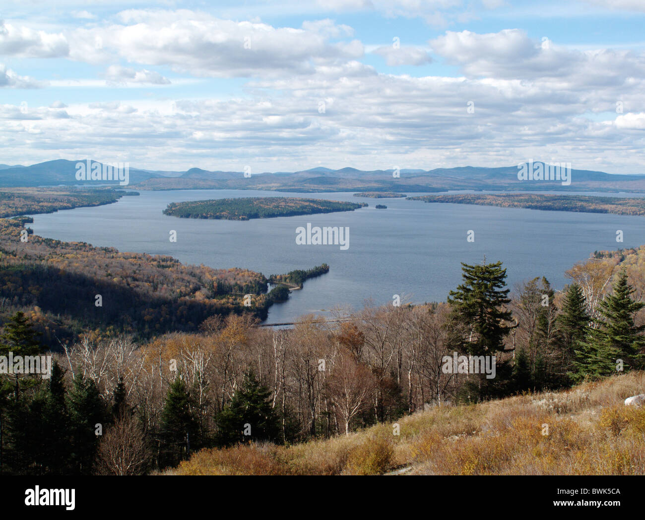 Mooselookmeguntic lake seen from the height of land for Free land maine