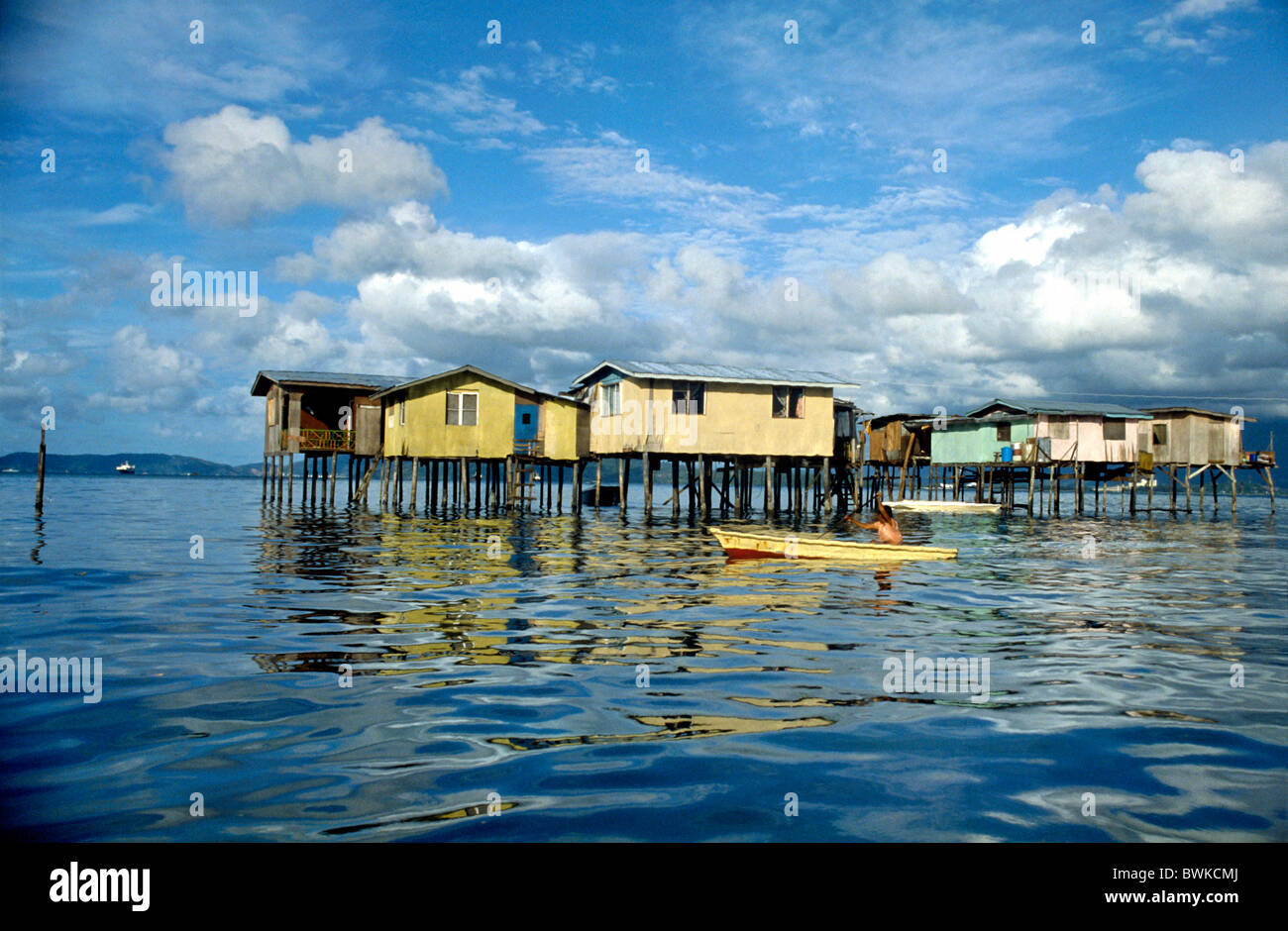 Malaysia Asia Borneo Sabah Mengkabong Water Village