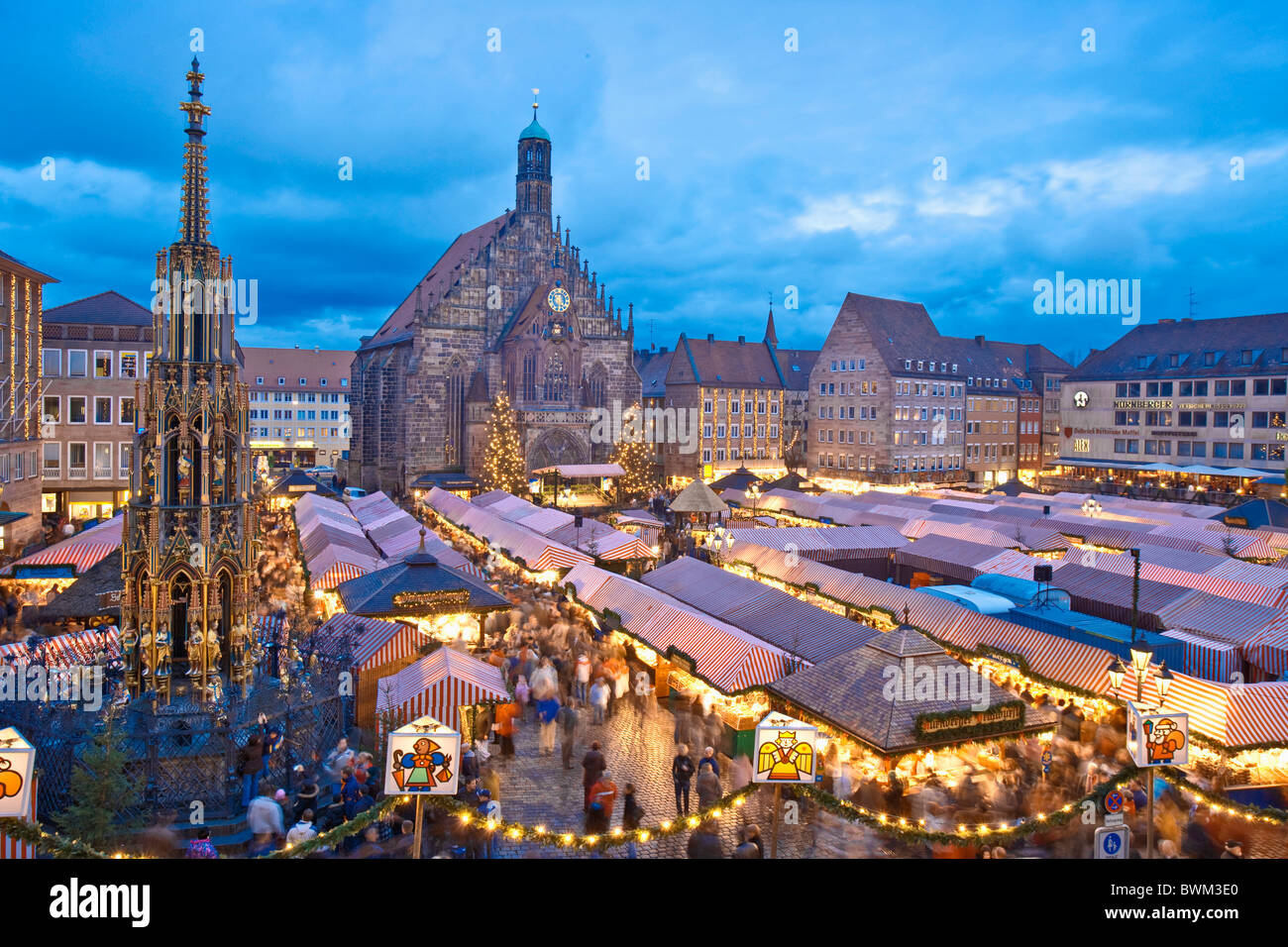 Germany Europe Bavaria Nuremberg Nurnberg Christmas Market Stock ...