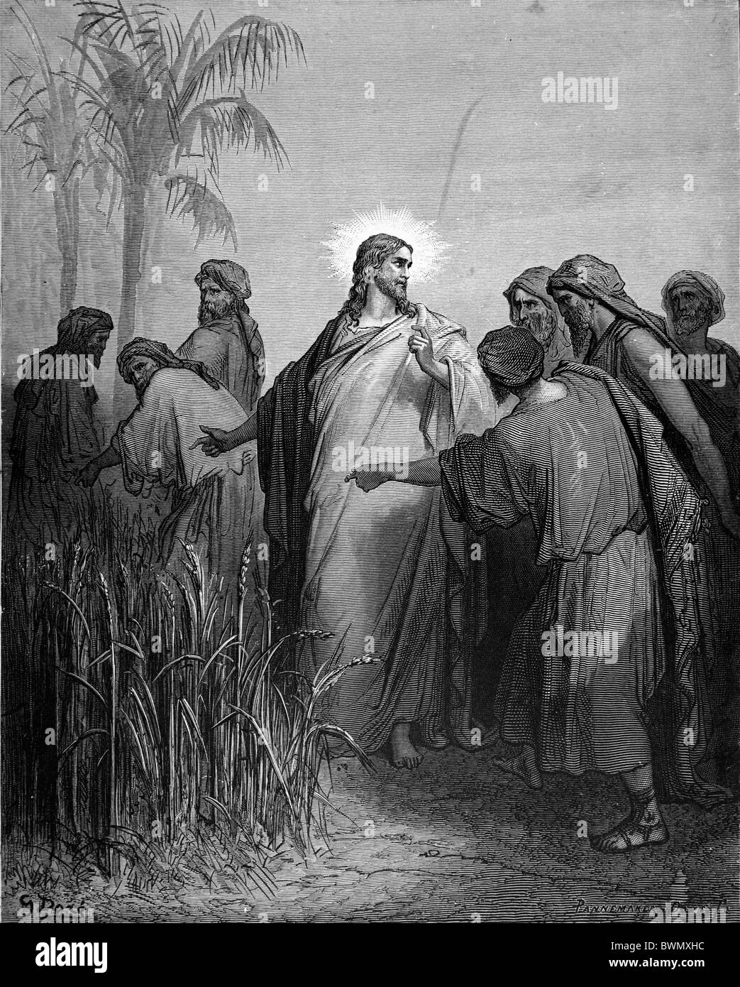 gustave doré jesus and his disciples walk through the cornfield
