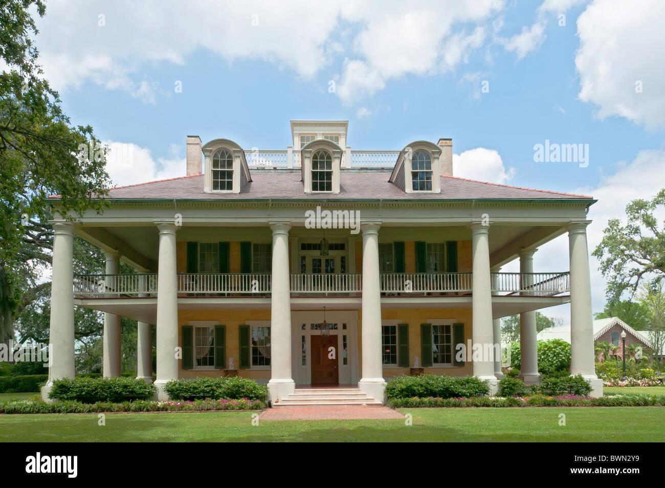 Louisiana Darrow Houmas House Plantation And Gardens Greek Revival Stock Photo Royalty Free