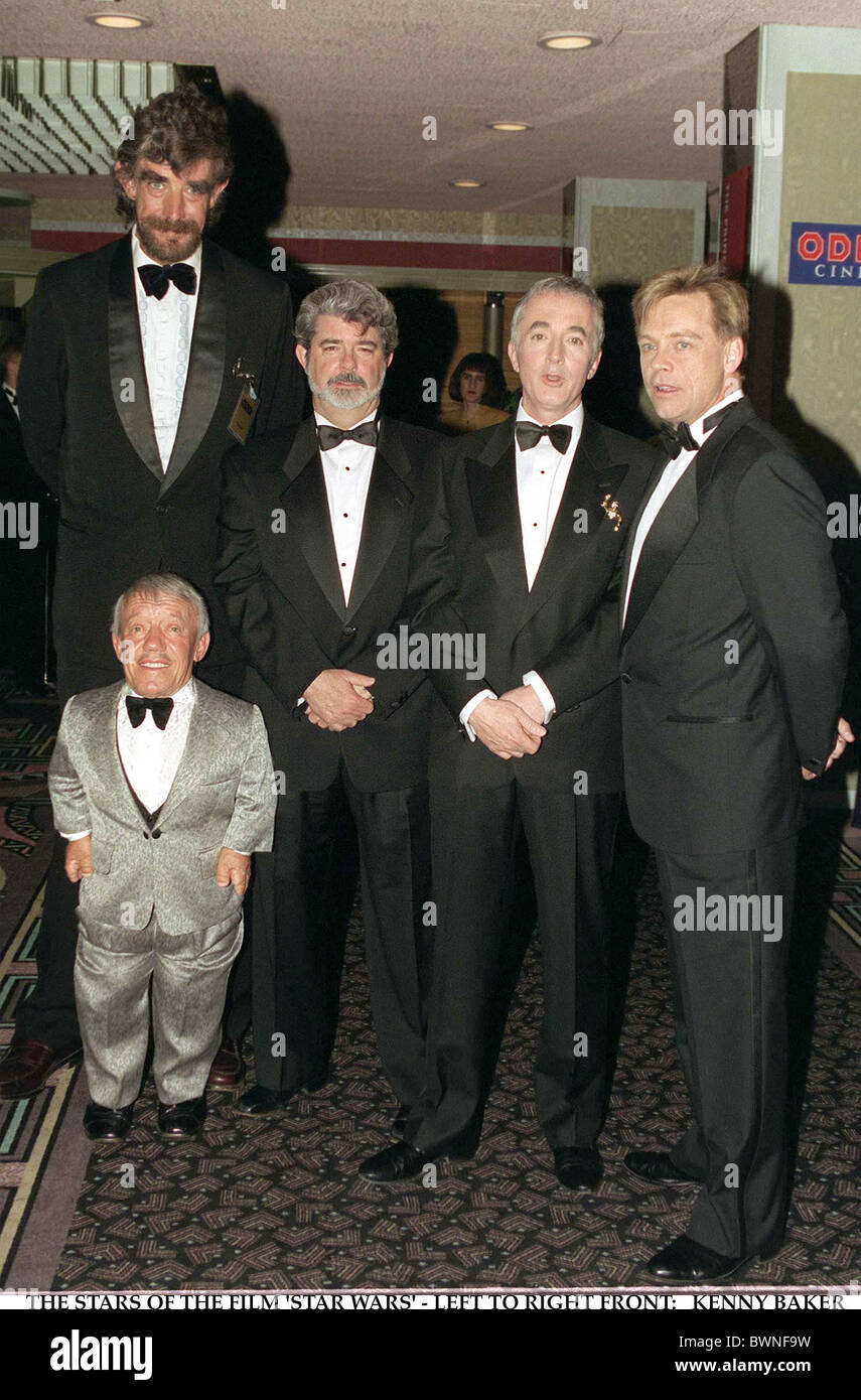 stars of the film star wars l to r front kenny baker
